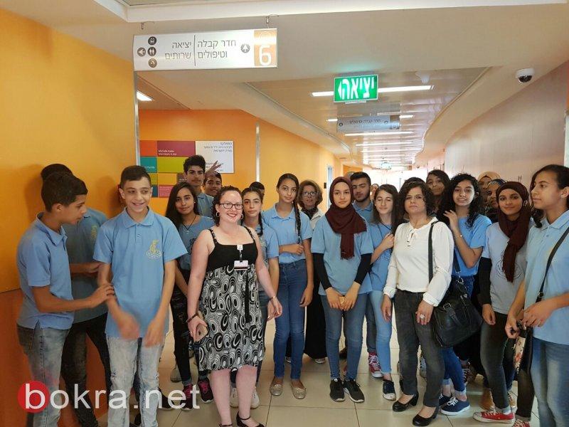 طلاب مدرسة عاطف خطيب شفاعمرو يزرون قسم الأطفال في رمبام
