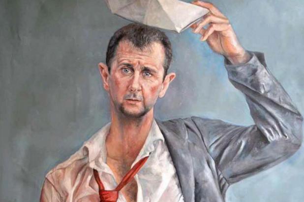بالصور والفيديو ..فنان سوري يجعل زعماء العالم لاجئين 1122402918