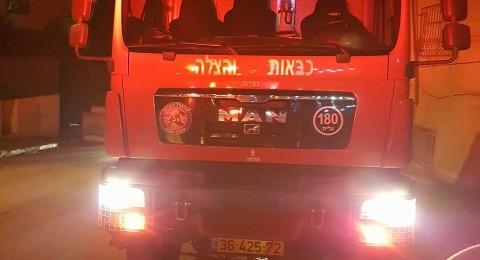 شعب: حرق شاحنة والمشتبه قاصر (16) عامًا