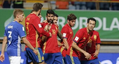 إسبانيا تكتسح ليشتنشتاين بثمانية أهداف، فوز ايطاليا على اسرائيل