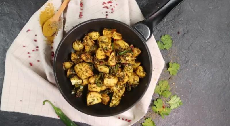 طريقة عمل بطاطس هندية