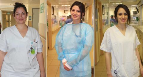 ممرضات في مستشفى صفد في اليوم العالمي للتمريض : التمريض مهنة شريفة وعظيمة