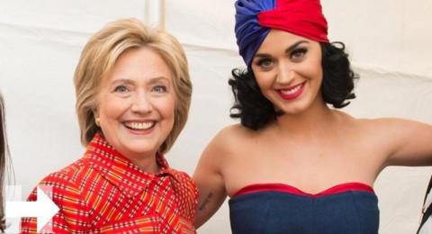 هيلاري كلينتون ترد الجميل لكايتي بيري