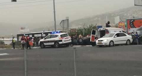 إصابات بينها خطيرة في حادث طرق سلسلة على شارع 65