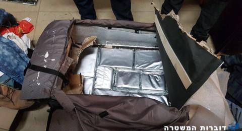 مطار بن جوريون واحباط محاولة تسريب 8 كغم من الكوكائين