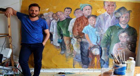 فنان سوري يجعل زعماء العالم لاجئين
