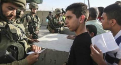 الغاء 250 تصريح دخول للفلسطينيين