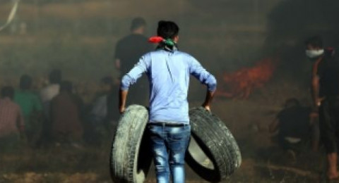 8 إصابات بالرصاص و30 بالاختناق بمواجهات مع القوات الاسرائيلية  شرقي القطاع
