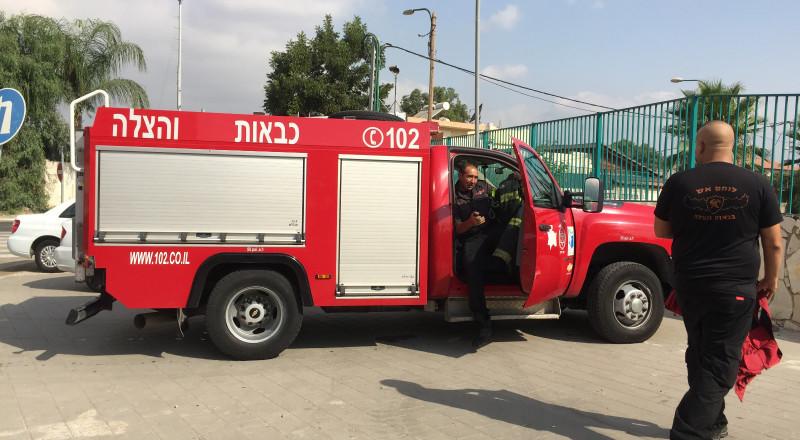 الناصرة: حريق على سطح محطة الوقود