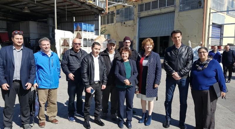 محافظة بنك اسرائيل تفتتح جولتها في عدد من المصانع في منطقة الشمال في قرية يركا