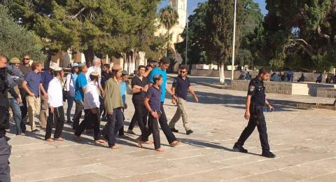 72 مستوطنا يقتحمون المسجد الأقصى