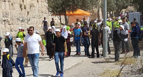 الآلاف في المسجد الأقصى يشاركون بمعسكر القدس أولاً استعدادا لاستقبال شهر رمضان الفضيل
