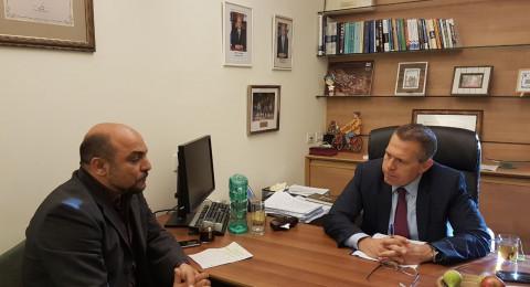النائب مسعود غنايم في جلسة مع وزير الأمن الداخلي حول جرائم القتل في مجتمعنا العربي