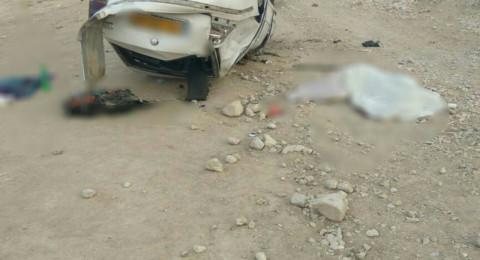 مصرع امل قبوعة (23 عاما) وابنتها بحادث طرق مروع في غور الاردن