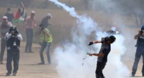 44 إصابة بمواجهات مع الاحتلال بجمعة غضب للأسرى في غزة والضفة