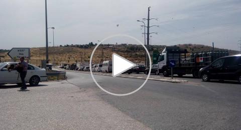 اندلاع مواجهات عنيفة بين شبان فلسطينيين وقوات الاحتلال على مدخل قلقيلية