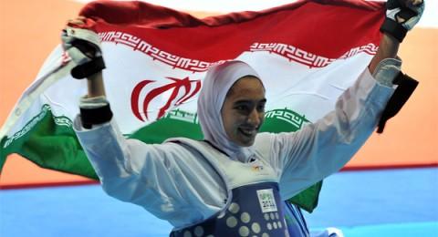 ميدالية تاريخية للإيرانية كيميا زاده