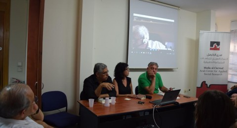 ندوة مع الكاتب والروائي الياس خوري في مدى الكرمل