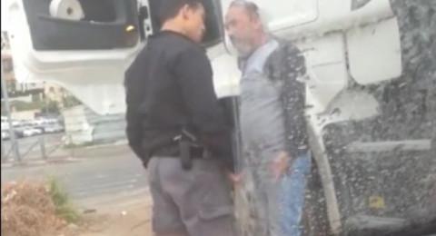 عاجل : الشرطة تفصل الشرطي الذي اعتدى على السائق المقدسي