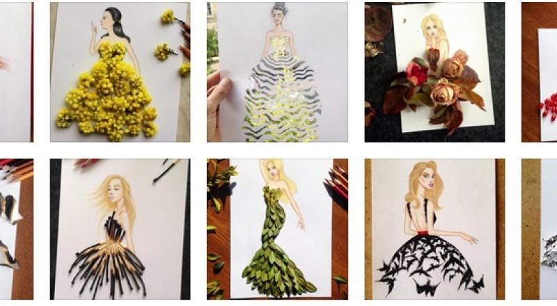 فنان يبدع في تصميم الأزياء باستخدام الطبيعة