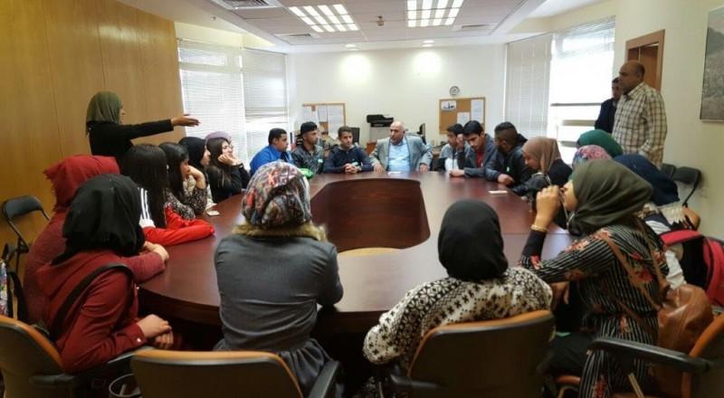 النائب أبو عرار يلتقي مجموعة شبابية قيادية من مدينة رهط في الكنيست