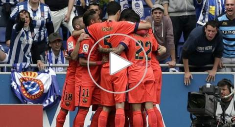 برشلونة ينجز مهمة اسبانيول ويحلق في الصدارة
