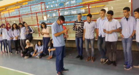 يوم تعليمي لمكافحة المخدرات والكحول يرفع من وعي طلاب وادي النسور الاعدادية في أم الفحم
