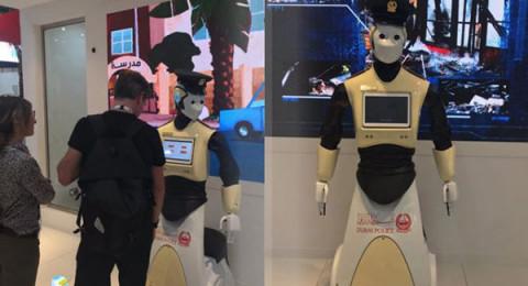 شرطة دبي تضم أول شرطي آلي بالعالم لكوادرها