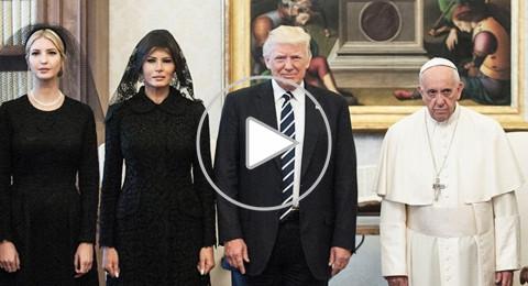 البابا فرنسيس يضرب ترامب بطريقة مضحكة