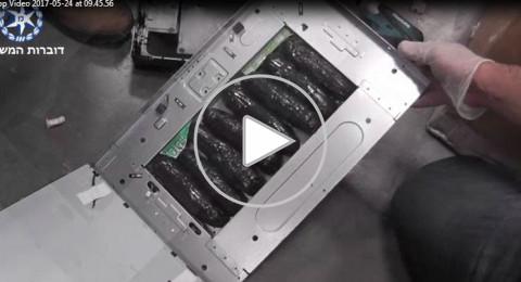 شاهدوا بالفيديو: مخدرات داخل حواسيب نقالة في مطار بن غوريون