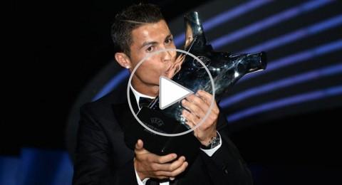 كريستيانو رونالدو يتوج بجائزة أفضل لاعب وميسي افضل هدف
