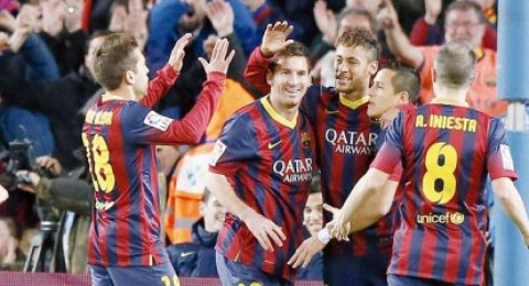 ثنائية نيمار تقود برشلونة للتغلب على سيلتا فيغو بثلاثية