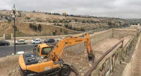 بلدية القدس تصادر أرضًا في رأس العمود