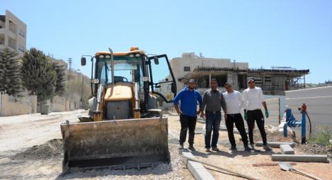 مشروع شارع حي الورود – حي الجليل في مراحله الأخيرة