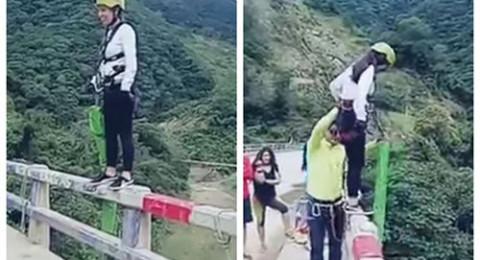 حادث مأساوي لفتاة أثناء قفزها من أعلى جسر