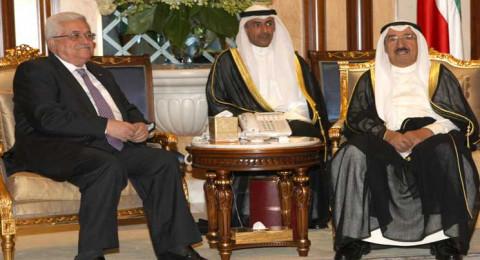 أمير الكويت والرئيس عباس يبحثان المستجدات الإقليمية الراهنة