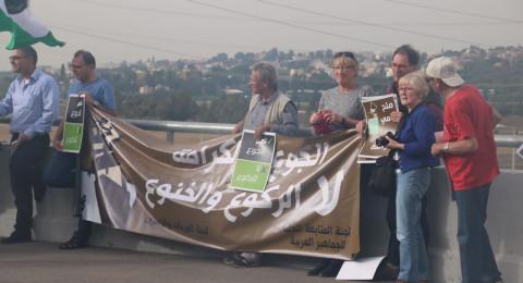 بدعوة من المتابعة: العشرات في وقفة إحتجاجية أمام الجلمة دعمًا للأسرى