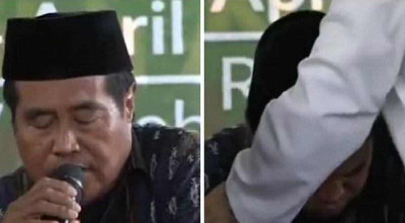 وفاة أشهر قارئ بإندونيسيا على الهواء خلال تلاوته للقرآن