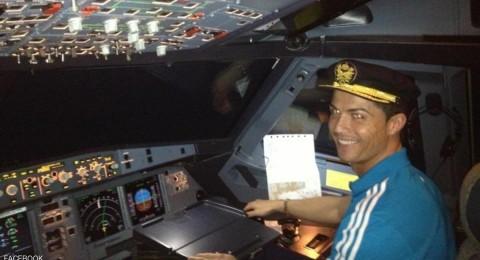 تحطم طائرة كريستيانو رونالدو في برشلونة