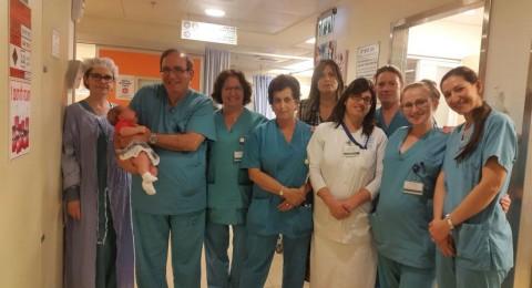الاحتفال بالمولود الـ 100 في قسم الإخصاب الخارجي في المركز الطبي للجليل
