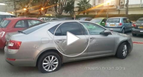 محاولة سرقة سيارة من منطقة تل ابيب وعيارات نارية تصيب مشتبه بجروح