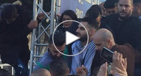 حفل إستقبال لمحبوب العرب يعقوب شاهين في ساحة المهد
