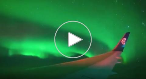 شاهدوا أضواء الشفق القطبي على متن الخطوط النيوزلندية بالقطب الجنوبي