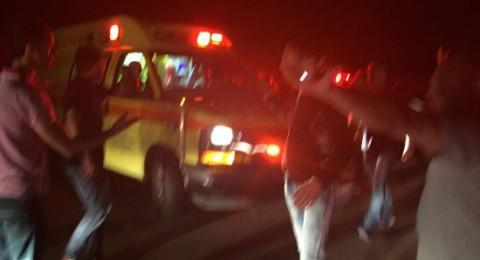 حادث طرق خطير قرب مفترق